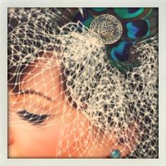 I now have a peacock feather obsession. #veil #wedding