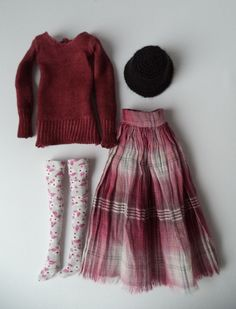 Outfit Red Wine for Momoko by MaggisAtelier on Etsy