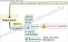 Mapa Mental de Português - Concordância Nominal - Regra Geral