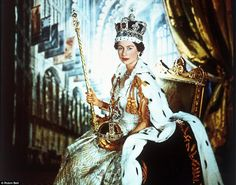 The late photographer Cecil Beaton shot this picture entitled: the Queen in Coronation Robes, in June 1953.