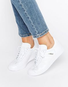 All white sneakers are so fresh.