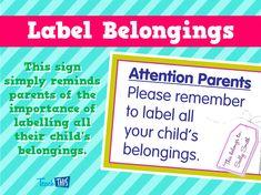 Label Belongings