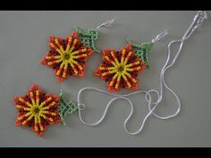 & Earrings in the technique of Huichol motives. Bead Embroidery Patterns, Beaded Jewelry Patterns, Beading Patterns, Bracelet Patterns, Jewelry Making Tutorials, Beading Tutorials, Diy Beaded Rings, Seed Bead Earrings, Beaded Earrings