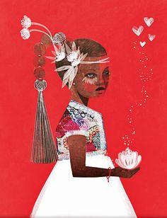 Lotus Girl by brooklyndolly on Etsy