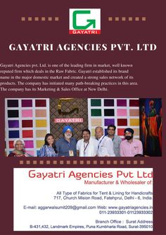 Buy Shade Card Fabrics  at Gayatri Agencies.  http://www.gayatriagencies.in/product.php?cat=tent-pandals