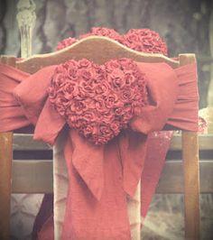 Red wedding - Chair decor