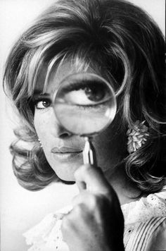 Monica Vitti  Actress Monica Vitti holding up a magnifying glass in front of one eye as she poses for her role as a spy in the movie thriller Modesty Blaze.  (Photo by Stephan C. Archetti/Pix Inc./Time Life Pictures/Getty Images) Time Life Pictures