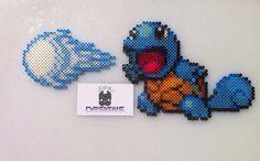 Pokemon Squirtle Perler Bead Sprite Art Set 2 by SDKD on Etsy, $17.00