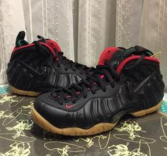 the best attitude 68f6b 47e20 Nike Air Foamposite Pro Black Gorge Green Gym Red Men Shoes