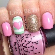 Photo by letsthinkpink Instagram | See more nail designs at http://www.nailsss.com/nail-styles-2014/2/
