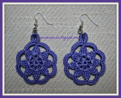 _ _ _ Wires Fantasia: WIRING EARRINGS CROCHET PATTERNS ...................... FREE CROCHET EARRINGS...use Google translate!