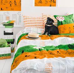 ÖNSKEDRÖM dekbedovertrek | #IKEA #nieuw #illustratie #OlleEksell #decoratie #slaapkamer #dekbed #kussen