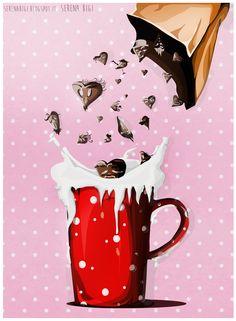 << Illustration on commission>> - Il Buongiorno si vede dal mattino - Wacom Tablet & Illustrator cs6 #illustration #illustrator #adobe #graphic #wacom #cup #tea #morning