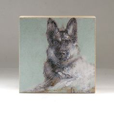 German Shepherd Dog Portrait on Canvas Print on 3 x 3 by 2ndHouse, $10.00