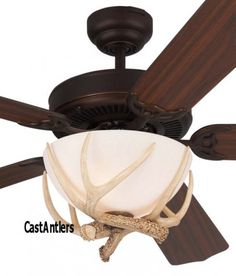 Monte carlo 52 great lodge rustic ceiling fan the great lodge 52 rustic dakota faux antler ceiling fan aloadofball Image collections