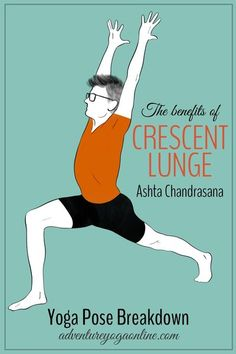 Want to learn more about Crescent Lunge, aka Ashta Chandrasana? In this post, we share the benefits of Crescent Lunge, a complete yoga pose breakdown, contraindications, modifications and more. This tutorial will help you expand your possibilities with this pose. #yoga #yogaposes #yogatips #yogaforbeginners #yogastepbystep #adventureyoga Yoga Benefits, Asana Yoga Poses, Yoga Sequences, Shoulder Injuries, Psoas Muscle, Yoga Pictures, Yoga Moves