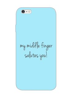 Middle Finger Salute - Designer Mobile Phone Case Cover for Apple iPhone 6