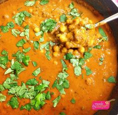 Today in my comparative diets class, I taught my peers how to make a traditional Chana Masala! I really loved sharing my love for cooking with my classmates... Served up these curried chickpeas with saffron tamarind rice and yellow split moong beans! #madebymanjari #indiancuisine #wholefoods #realfood #tasty #yvr #yummy #instafood #instagood #organic #food #fresh #foodie #feedfeed #foodphotography #goveg #healthy #herbivore #holisticnutrition #cleaneats #colourful #chefsofinstagram #vegan