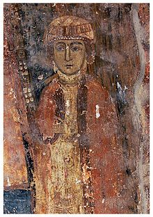 Ирина Комнина Дука/ Irene Komnene Doukaina or Eirene Komnene Doukaina was a Greek princess and the third wife of tsar Ivan Asen II of Bulgaria. Irene was daughter of despotēs Theodore Komnenos Doukas. In 1230 Irene and her family were captured by the troops of tsar Ivan Asen II of Bulgaria in the battle of Klokotnitsa and they were taken in Tarnovo, where Irene grew up in the Palace. Irene became known for her beauty and the widowed tsar fell in love with her. They married in 1237.