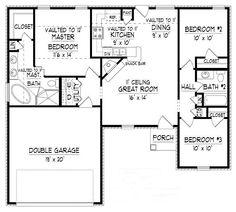 planos de casas de 1 planta de 150 de construccion - Buscar con Google