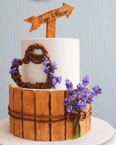 Lavender engagement Cakecupcake and Cookies by asli - http://cakesdecor.com/cakes/247778-lavender-engagement-cake-cupcake-and-cookies