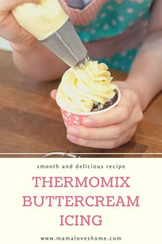 How to create deliciously smooth buttercream icing in your Thermomix. Step-by-step instructions and tips on how you can improve the consistency and taste of your buttercream icing Easy Sugar Cookie Frosting, White Frosting Recipes, Easy Icing Recipe, Healthy Sugar Cookies, Easy Buttercream Frosting, Best Sugar Cookie Recipe, Frosting Tips, Icing Recipes, Recipe Box