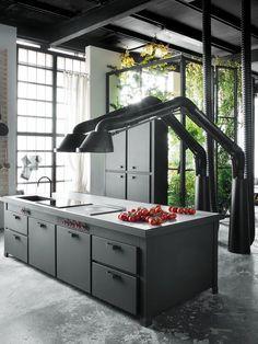 Design cooker hood MAMMUT by Minacciolo   #design Arch. Silvio Stefani + R Minacciolo #kitchen