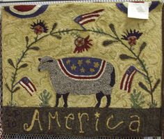 Americana Sheep ~ design by Lori Brechlin (www.spruceridgestudios.com)