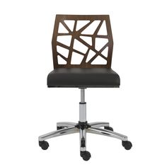 desks office furniture rocco cream faux leather office chair