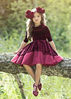 Joyfolie Nina Dress Preorder 2 to 14 Years Little Girl Dresses, Girls Dresses, Flower Girl Dresses, Little Girl Fashion, Kids Fashion, Vestidos Velvet, Foto Baby, Baby Dress, Cute Dresses