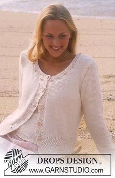 DROPS 78-17 - DROPS Cardigan in Paris with beads and seed stitch - Free pattern by DROPS Design