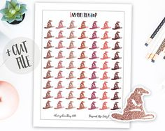 Harry Potter Planner Stickers, Printable Harry Potter Stickers, Glitter Stickers, Erin Condren, Happy Planner, Bullet Journal Stickers