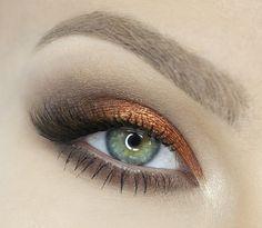 'Flame Thrower' look by Katosu using Makeup Geek's Flame Thrower Foiled Eyeshadow.