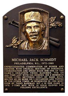 Mike Schmidt, 3B, Philadelphia Phillies, Baseball Hall of Fame