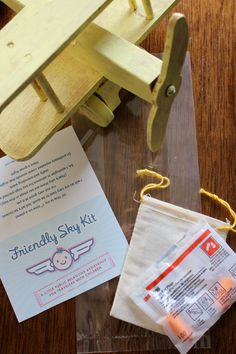 Friendly Sky Kit (Set of 7). $9.99, via Etsy. (for your seatmates during flights with babes!)