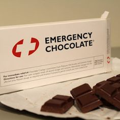 Chocolate:  To some people it's just a sweet treat, but to others it's the cure to most of life's problems. That's why this promotional chocolate bar is so great.  It uses humor and a little truth about human tendencies!