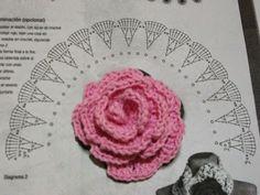 Crochet Flower Patterns - Beautiful Crochet Patterns and Knitting Patterns Crochet Diy, Beau Crochet, Crochet Puff Flower, Crochet Flower Tutorial, Crochet Motifs, Crochet Flower Patterns, Crochet Diagram, Crochet Chart, Irish Crochet