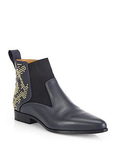 60245c3f3 Chloe Studded Leather Pointy Ankle Boots Studded Leather, Leather Boots,  Sexy Boots, Black