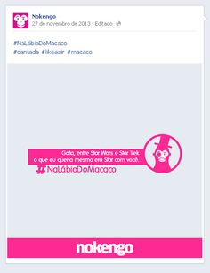 #NaLabiaDoMacaco #cantada #likeasir #macaco