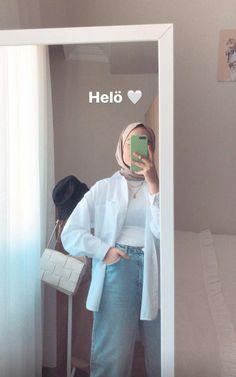 Modern Hijab Fashion, Hijab Fashion Inspiration, Muslim Fashion, Casual Hijab Outfit, Ootd Hijab, Chic Winter Outfits, Hijab Tutorial, Creative Instagram Stories, Cute Girl Face
