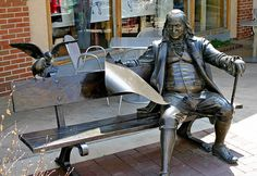 Statue of Benjamin Franklin - on Kansas City's Country Club Plaza. InLaw Investments helps our clients create solid cash flow investment properties. Urban Life, Urban Art, Statues, Titanic Artifacts, Loveland Colorado, Kansas City Missouri, Public Art, Benjamin Franklin, Street Art