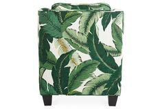 Mizner Club Chair, Banana Leaf