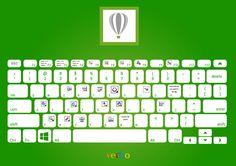 CorelDRAW✏✒ Keyboard Shortcuts, Coreldraw, Embedded Image Permalink, Computer Keyboard, Lettering, Mac, Design, Adobe Illustrator, Laptop