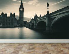 Wall Mural London Tower Bridge Peel and Stick by RoyalWallSkins