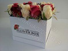 Flower box, pudełko na kwiaty L -białe