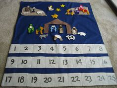 Felt Calendar:Looks easy---pattern from:  red22lm (at) yahoo (dot) com.