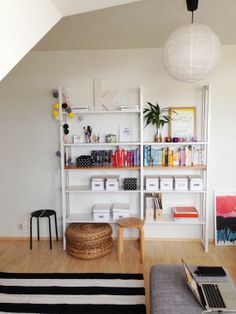 Lundia shelves. Lund, Dining Area, Bookshelves, Kids Room, Interior Decorating, New Homes, Room Decor, Living Room, Storage