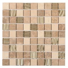 This unique glass and stone mosaic creates an individual look through the use of stone and wave patterned glass. The neutral cream colours create a natural and warm atmosphere whilst the stone maintains a classical and elegant feel