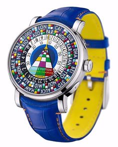 Louis Vuitton's justly-celebrated single-handed world timer features a hand-painted dial created in collaboration with Paul Pettavino. It's in The Only Watch auction which takes place in Geneva at 3pm on 7 November 2015 with a low estimate of $63,700. Full details on GQ.co.uk // Follow GQ editor Dylan Jones at @dylanjonesgq
