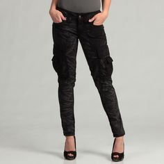 @Overstock - These edgy cargo pants from Jimmy Taverniti feature military-inspired design cues and plenty of pockets. These pants are made with a distressed appearance and just enough stretch for the perfect fit.http://www.overstock.com/Clothing-Shoes/Jimmy-Taverniti-Juniors-Skinny-Cargo-Pant/7157483/product.html?CID=214117 $76.99